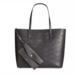 Dkny leather large women's tote black